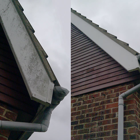 Gutter and soffit facia cleaning in Kettering - CF Facilities
